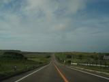落石岬への道