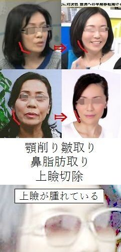 顔が変わりすぎ。
