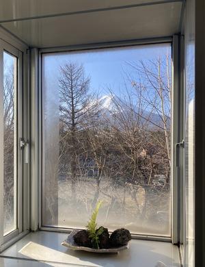 マンションのお風呂から見える富士山 (3)