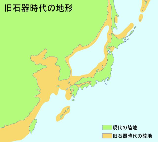 2万年前の地図