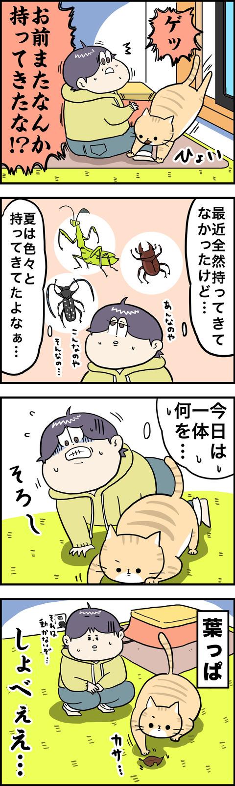 4コマ 葉っぱ