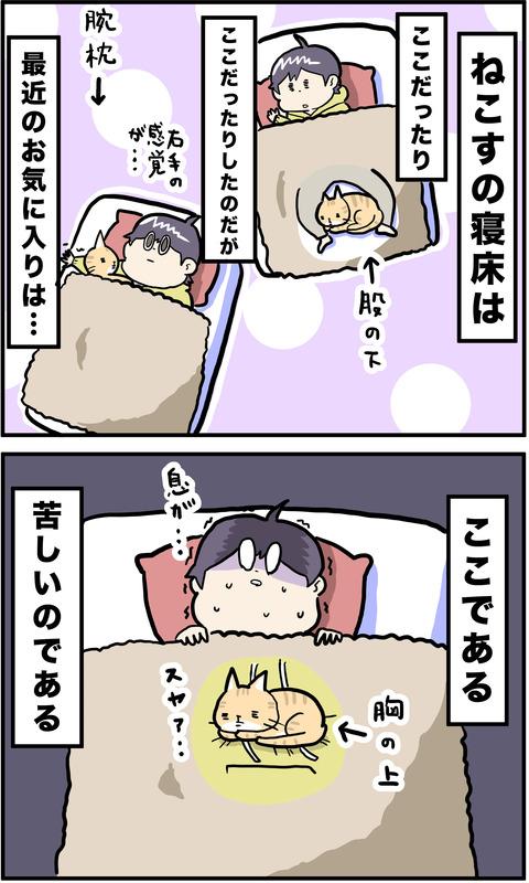 2コマ 寝床