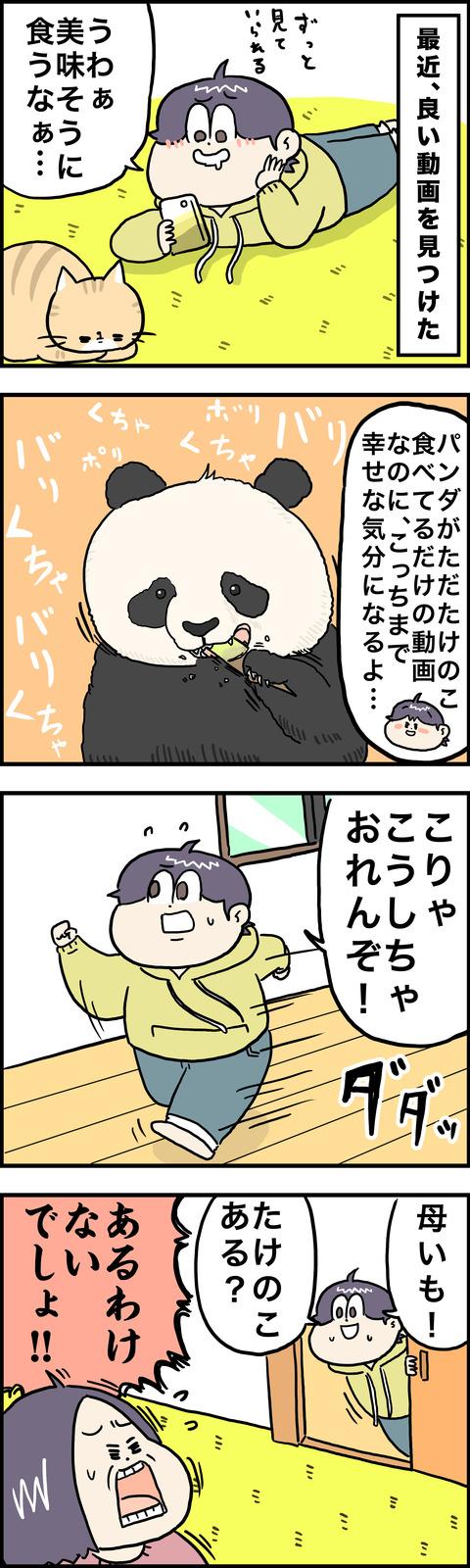 4コマ パンダ
