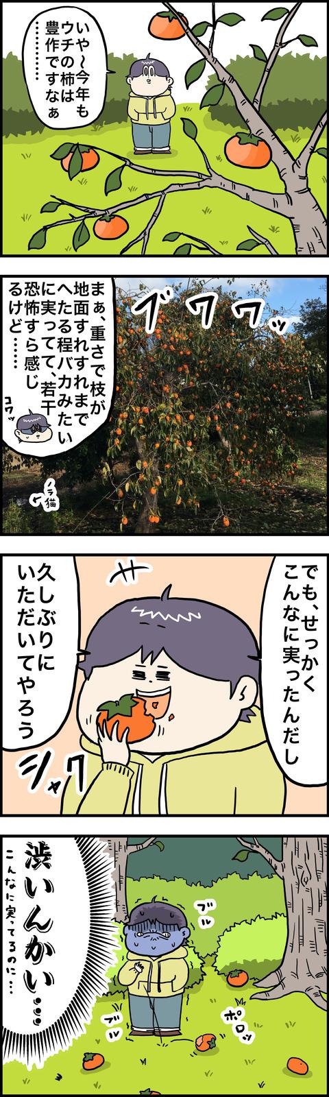 4コマ しぶ柿