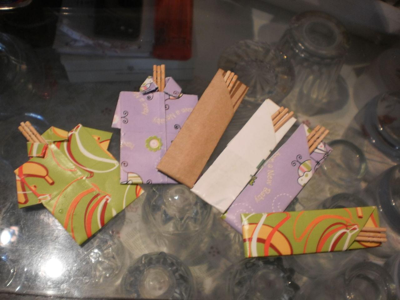 すべての折り紙 折り紙箱折り方長方形 : 包装紙でアロハシャツ(=^・^=)