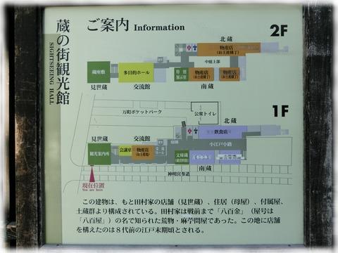 蔵の街観光館案内図