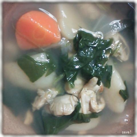 あさりの香草スープ