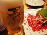 桜生ビールと馬刺し