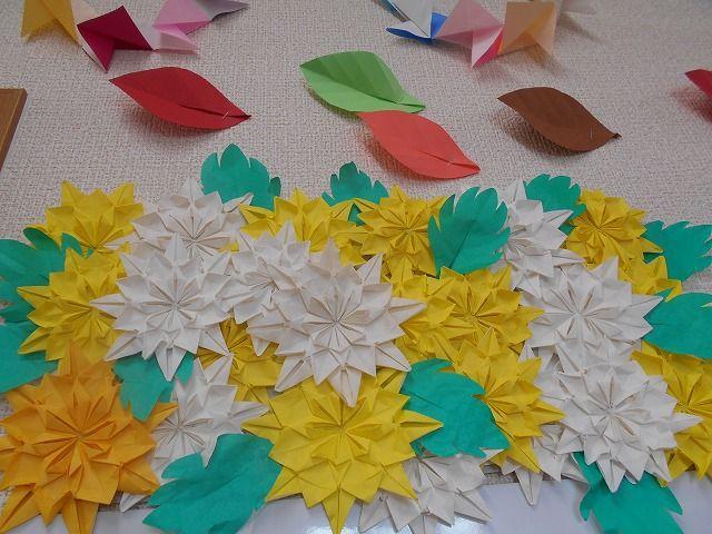 クリスマス 折り紙 折り紙 菊の花 : blog.livedoor.jp