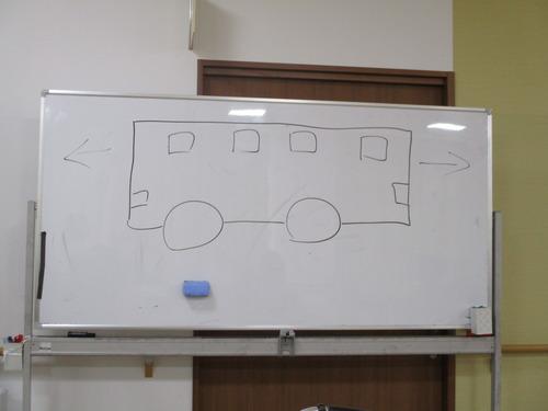 バスは右、左どっちへ行くか