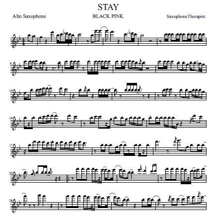 blackpink-stay-altosaxサックス楽譜サンプル