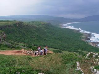 台湾 南の方の海岸崖