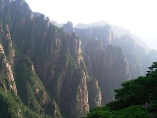 黄山 西海大峡谷北景観