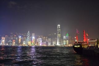 香港 夜景&ジャンク