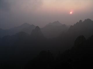 黄山 日の出