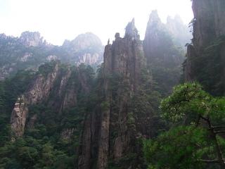 黄山 西海大峡谷 南 崖道風景