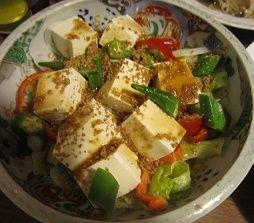 豆腐と野菜の胡麻和え
