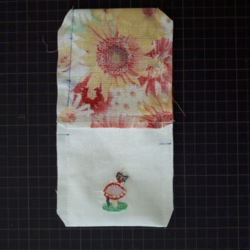 縫い代整理(裏付きミニ巾着)