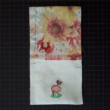 横を縫う(裏付きミニ巾着)