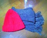 帽子とマフラー☆