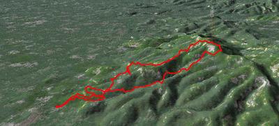 天拝山から1km