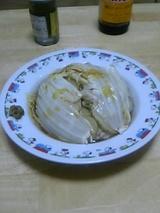 白菜と鶏肉の重ね蒸し