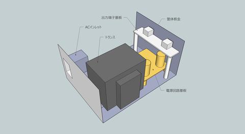 電源筐体実装イメージ