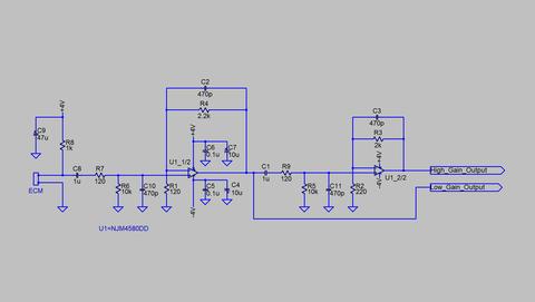 マイクアンプ本番回路図
