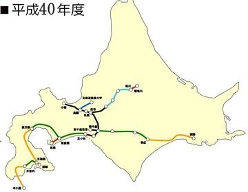 JR北海道平成40年度路線図予想