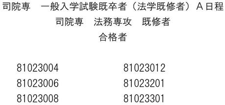 関西学院大ローA日程-5既卒既修