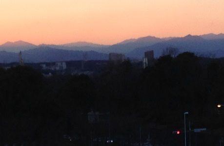 三頭山と大岳山s
