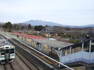 穴山駅からの八ヶ岳
