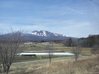 しなの鉄道からの浅間山