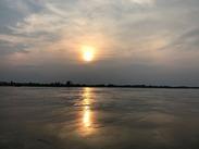 メコンに沈む夕陽