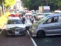 白昼の逮捕劇。バスの車内から撮影された愛知県警vsDQNの映像が話題に。