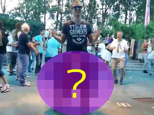 「下半身だけクマの着ぐるみを着てダンスをすると…こうなる!?」(動画)