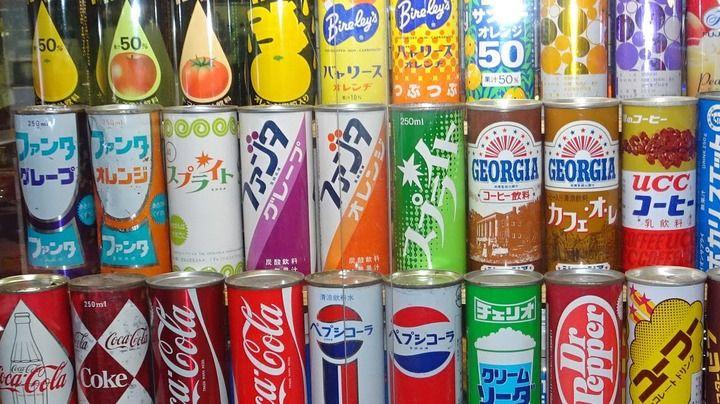 【画像あり】昭和の缶ジュースすげえな
