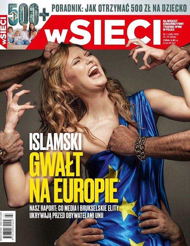 【画像】ポーランドの極右週刊誌の表紙が過激過ぎるwwwww