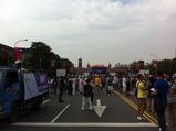 パレードの集合場所(総統府前)
