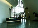 博物館の受付カウンター