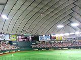 東京ドームの中