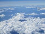 機内から見た富士山