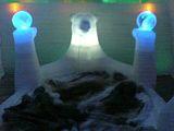 熊の氷のベット