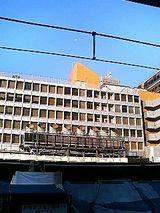 新宿駅ホームから見た小田急百貨店