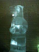 氷の彫刻(熊さん)