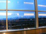 アンカレッジの空港から観た山々