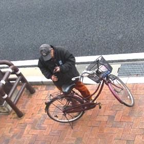 自転車とケータイ