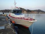 P1191334 今回、回航する17級アルミ取締船 - 船名なし