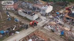 中国で竜巻発生…巨大な渦 17人が死傷、148棟に被害
