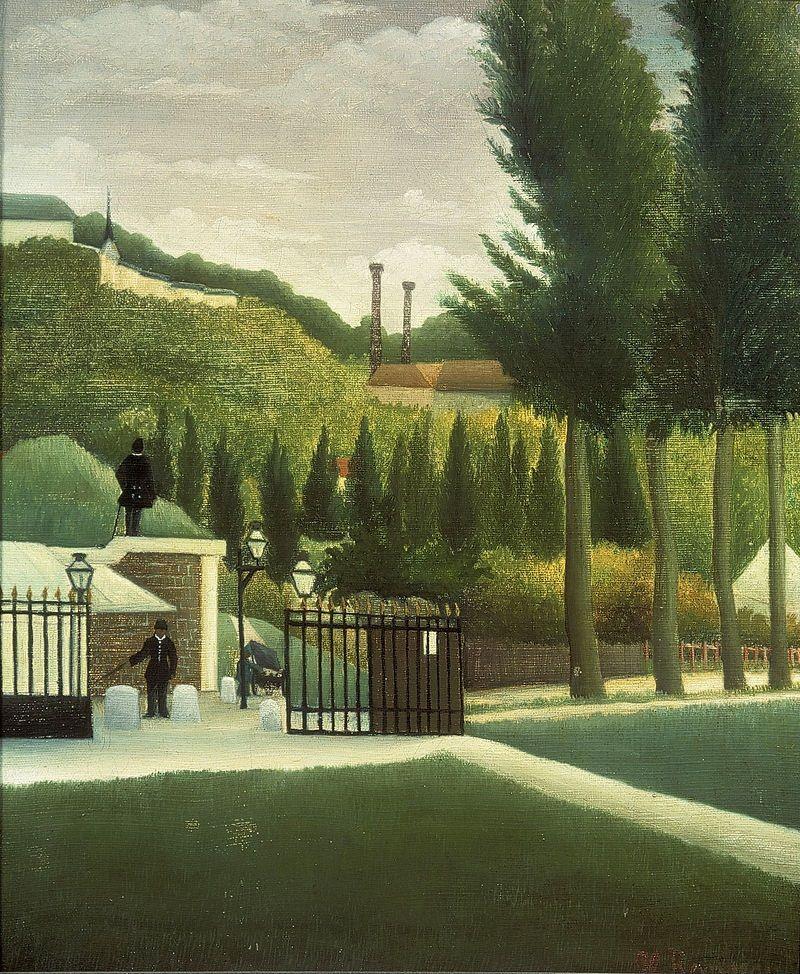 ルソー「関税局入り口」1890年頃 コートールド・ギャラリー見どころその16:ルソー「税関の入り